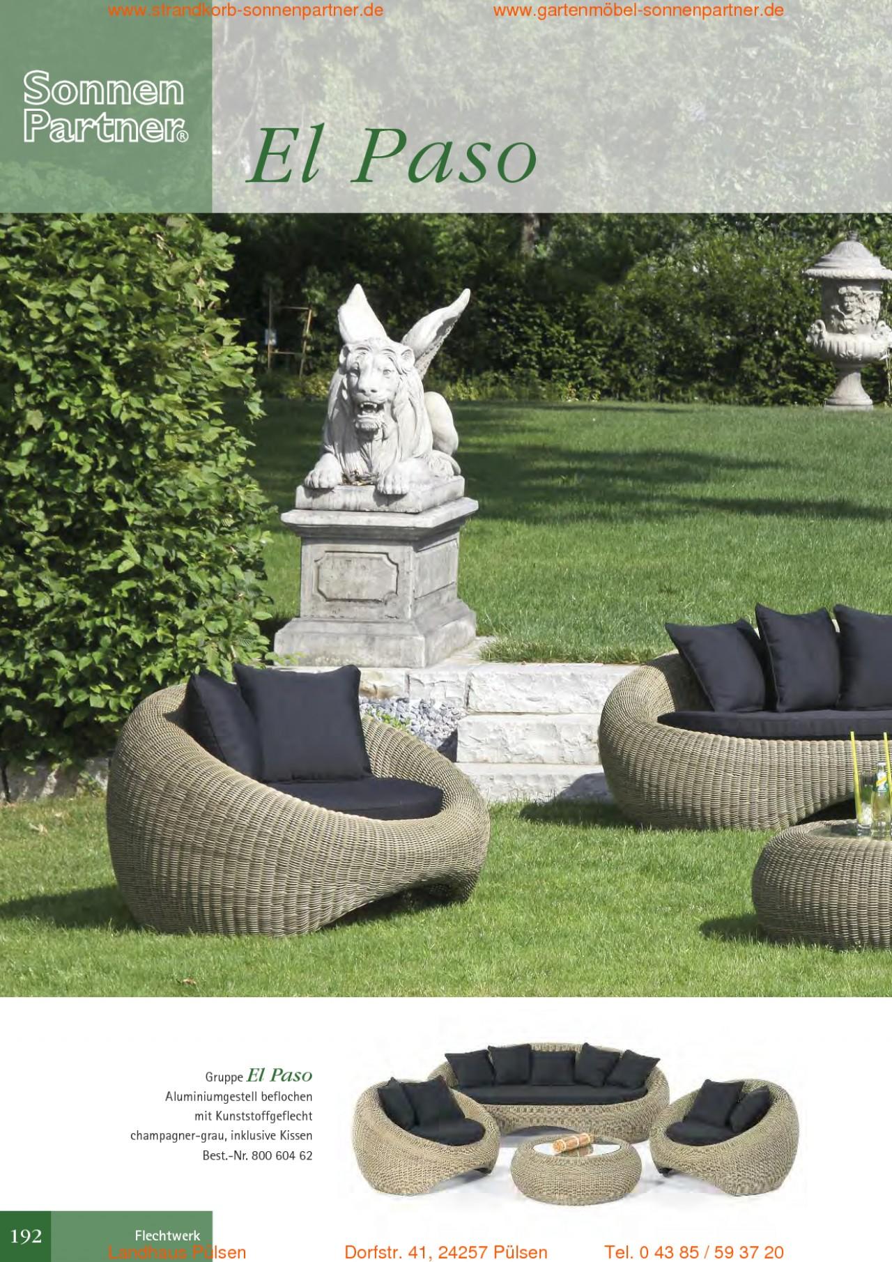 sonnenpartner gartenmoebel strandkoerbe 2011 1 seite 192. Black Bedroom Furniture Sets. Home Design Ideas